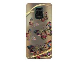 Husa Silicon Soft Upzz Print Compatibila Cu Xiaomi Redmi Note 9 Pro Model Golden Butterfly