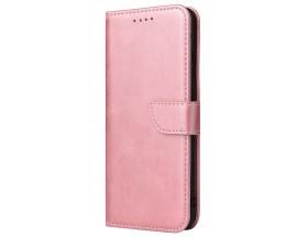 Husa Premium Upzz Magnetic Book Compatibila Cu Huawei P30 Pro, Piele Ecologica - Roz