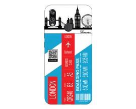 Husa Silicon Soft Upzz Print Travel Compatibila cu Huawei P20 Lite Model London