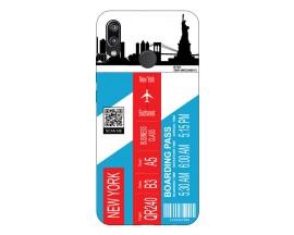 Husa Silicon Soft Upzz Print Travel Compatibila cu Huawei P20 Lite Model New York