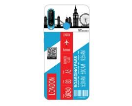 Husa Silicon Soft Upzz Print Travel Compatibila cu Huawei P30 Lite Model London
