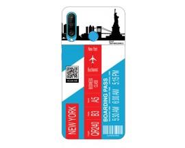 Husa Silicon Soft Upzz Print Travel Compatibila cu Huawei P30 Lite Model New York