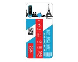 Husa Silicon Soft Upzz Print Travel Compatibila cu Huawei P30 Lite Model Paris