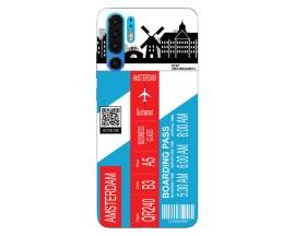 Husa Silicon Soft Upzz Print Travel Compatibila cu Huawei P30 Pro Model Amsterdam