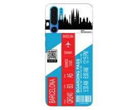 Husa Silicon Soft Upzz Print Travel Compatibila cu Huawei P30 Pro Model Barcelona
