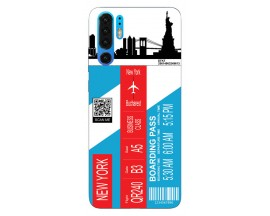 Husa Silicon Soft Upzz Print Travel Compatibila cu Huawei P30 Pro Model New York