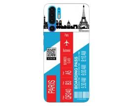 Husa Silicon Soft Upzz Print Travel Compatibila cu Huawei P30 Pro Model Paris