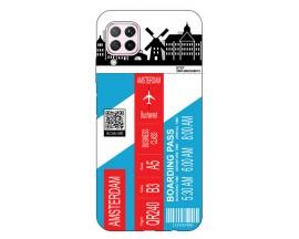 Husa Silicon Soft Upzz Print Travel Compatibila cu Huawei P40 Lite Model Amsterdam