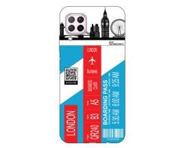 Husa Silicon Soft Upzz Print Travel Compatibila cu Huawei P40 Lite Model London
