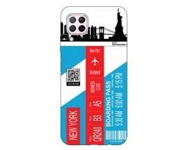 Husa Silicon Soft Upzz Print Travel Compatibila cu Huawei P40 Lite Model New York