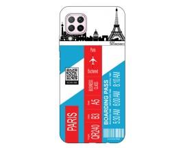 Husa Silicon Soft Upzz Print Travel Compatibila cu Huawei P40 Lite Model Paris