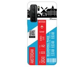 Husa Silicon Soft Upzz Print Travel Compatibila cu Huawei P40 Lite 5G Model Amsterdam