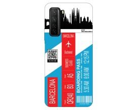 Husa Silicon Soft Upzz Print Travel Compatibila cu Huawei P40 Lite 5G Model Barcelona