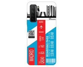 Husa Silicon Soft Upzz Print Travel Compatibila cu Huawei P40 Lite 5G Model Madrid