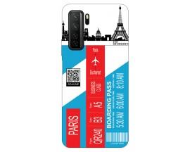 Husa Silicon Soft Upzz Print Travel Compatibila cu Huawei P40 Lite 5G Model Paris