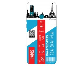 Husa Silicon Soft Upzz Print Travel Compatibila cu Huawei P Smart 2019 Model Paris