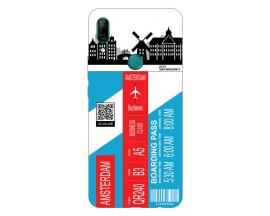 Husa Silicon Soft Upzz Print Travel Compatibila cu Huawei P Smart Z Model Amsterdam