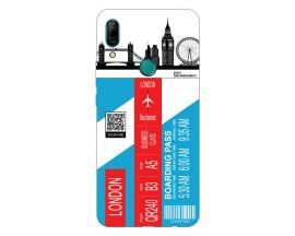 Husa Silicon Soft Upzz Print Travel Compatibila cu Huawei P Smart Z Model London
