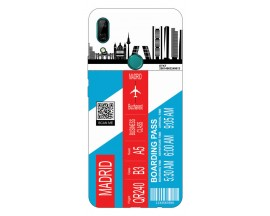 Husa Silicon Soft Upzz Print Travel Compatibila cu Huawei P Smart Z Model Madrid