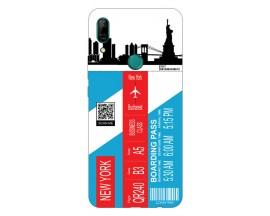 Husa Silicon Soft Upzz Print Travel Compatibila cu Huawei P Smart Z Model New York