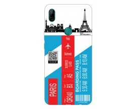 Husa Silicon Soft Upzz Print Travel Compatibila cu Huawei P Smart Z Model Paris