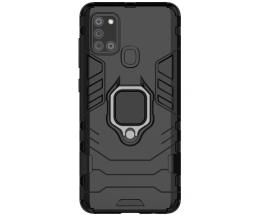 Husa Spate Upzz Ring Armor Hybrid Samsung Galaxy A21s , Negru