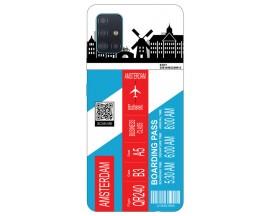 Husa Silicon Soft Upzz Print Travel Compatibila cu Samsung Galaxy A51 Model Amsterdam