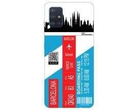 Husa Silicon Soft Upzz Print Travel Compatibila cu Samsung Galaxy A51 Model Barcelona