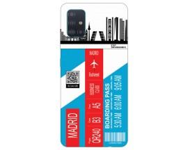 Husa Silicon Soft Upzz Print Travel Compatibila cu Samsung Galaxy A51 Model Madrid
