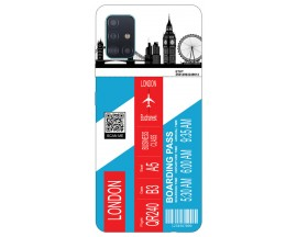 Husa Silicon Soft Upzz Print Travel Compatibila cu Samsung Galaxy A71 Model London