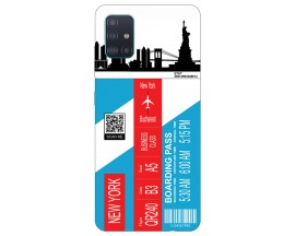 Husa Silicon Soft Upzz Print Travel Compatibila cu Samsung Galaxy A71 Model New York