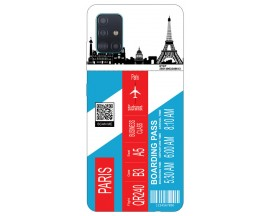 Husa Silicon Soft Upzz Print Travel Compatibila cu Samsung Galaxy A71 Model Paris
