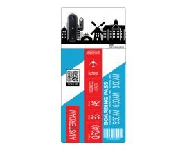 Husa Silicon Soft Upzz Print Travel Compatibila cu Samsung Galaxy Note 10+ plus Model Amsterdam
