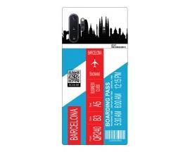 Husa Silicon Soft Upzz Print Travel Compatibila cu Samsung Galaxy Note 10+ plus Model Barcelona
