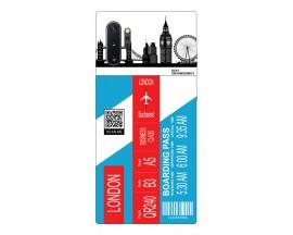 Husa Silicon Soft Upzz Print Travel Compatibila cu Samsung Galaxy Note 10+ plus Model London