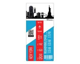 Husa Silicon Soft Upzz Print Travel Compatibila cu Samsung Galaxy Note 10+ Plus Model New York