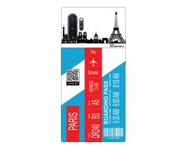 Husa Silicon Soft Upzz Print Travel Compatibila cu Samsung Galaxy Note 10+ Plus Model Paris