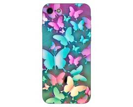 Husa Silicon Soft Upzz Print Compatibila Cu Iphone 7/ Iphone 8 Model Colorfull Butterflies