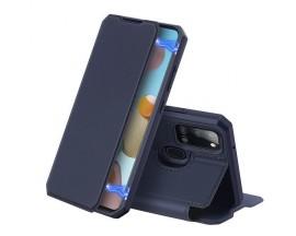 Husa Premium Duxducis Skin X Flip Cover Compatibila Cu Samsung Galaxy A21s, Albastru Navy