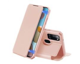 Husa Premium Duxducis Skin X Flip Cover Compatibila Cu Samsung Galaxy A21s, Roz