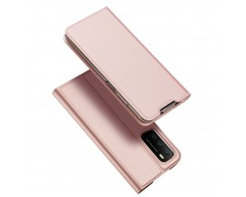 Husa Premium Flip Cover DuxDucis Skin Pro Compatibila Cu Xiaomi Poco M3 / Redmi 9T, Roz