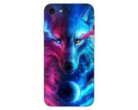 Husa Silicon Soft Upzz Print Compatibila Cu Iphone 7/ Iphone 8 Model Wolf