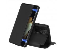 Husa Premium Flip Cover DuxDucis Skin X Compatibila Cu Samsung Galaxy S21 Ultra, Negru