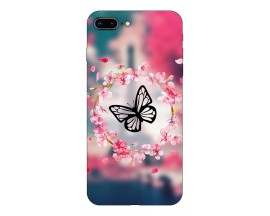 Husa Silicon Soft Upzz Print Compatibila Cu Iphone 7 Plus/ Iphone 8 Plus Model Butterfly
