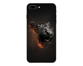 Husa Silicon Soft Upzz Print Compatibila Cu Iphone 7 Plus/ Iphone 8 Plus Model Tiger