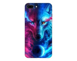 Husa Silicon Soft Upzz Print Compatibila Cu Iphone 7 Plus/ Iphone 8 Plus Model Wolf