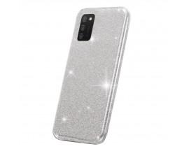Husa Spate Upzz Shiny Compatibila Cu Samsung Galaxy A02s, Silver