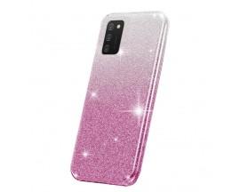 Husa Spate Upzz Shiny Compatibila Cu Samsung Galaxy A02s, Silver Roz