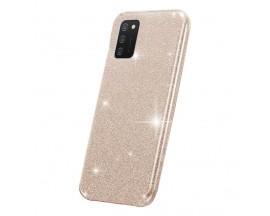 Husa Spate Upzz Shiny Compatibila Cu Samsung Galaxy A02s, Gold