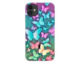 Husa Silicon Soft Upzz Print Compatibila Cu iPhone 11 Model Colorfull Butterflies